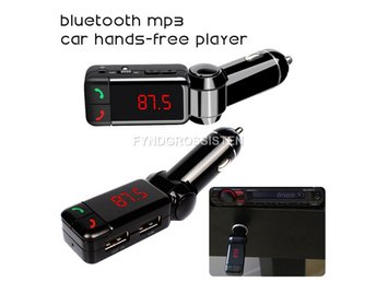 LCD Bluetooth Car stereo Kit MP3 AUX FM Transmitter sändare Fri Frakt Helt Ny