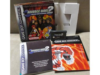GBA Advance Wars 2: Black Hole Rising PAL komplett!