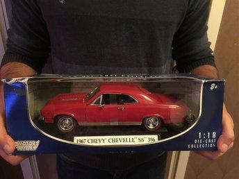 Modellbil 1967 Chevy Chevelle SS 396 (Samlarbilar bilar) - Nyköping - Modellbil 1967 Chevy Chevelle SS 396 (Samlarbilar bilar) - Nyköping