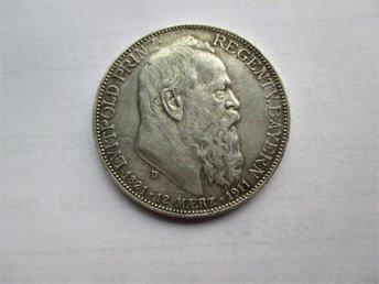 Bavaria, 2 mark, 1911 Prince Regent Luitpold KM#997 - Ninove - Bavaria, 2 mark, 1911 Prince Regent Luitpold KM#997 - Ninove