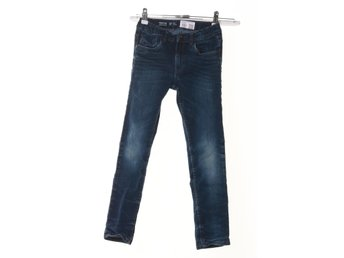 Denim By Lindex, Jeans, Narrow, Strl: 140, Blå