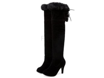 Dam Boots Shoes Brand Suede Leather Botas Woman Black 36