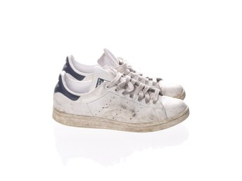 Adidas Stan Smith, Sneakers, Strl: 41 1/3, Vit/Mörkblå