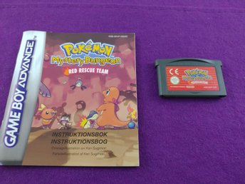 Gameboy Advance Pokemon Mystery Dungeon Red Rescue Team + Manual Svenskt