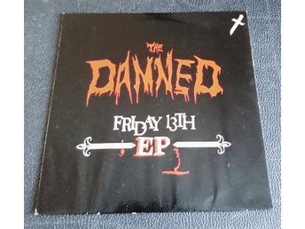 "THE DAMNED  ""Friday the 13th""   1981 Holland  Maxi-single 7"""