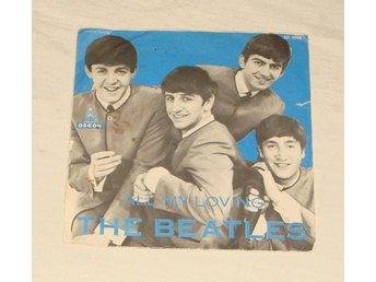 "BEATLES - ALL MY LOVING , SWE-1963 7"" Blue PS"