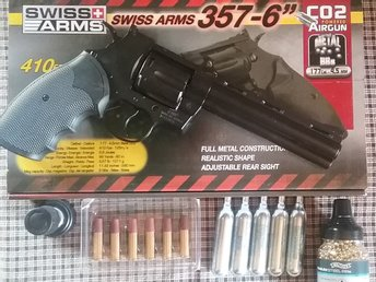Swiss Arms .357 Metal Co2 BB Revolver 6 inch luftpistol