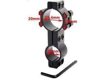 25.4mm and 18mm Ring Adapter Barrel Tube Mount - 20mm rail