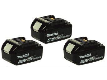 3x BL1840 18V 4,0ah batteri. inkl moms & 1års garanti - Norsborg - 3x BL1840 18V 4,0ah batteri. inkl moms & 1års garanti - Norsborg