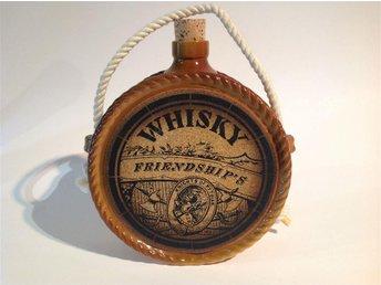 Whisky flaska , plunta i keramik/porslin ? - Skänninge - Whisky flaska , plunta i keramik/porslin ? - Skänninge