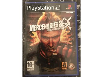 Mercenaries 2 World in Flames  Play station 2 ps2 spel