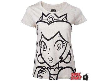 Nintendo Outline Peach Tjej T-Shirt Beige (Large) - Norrtälje - Nintendo Outline Peach Tjej T-Shirt Beige (Large) - Norrtälje