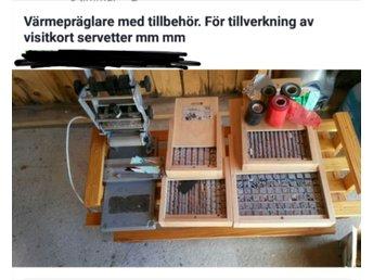 Värmepräglare med ett enormt antal blytyper och lite folie m.m - Borlänge - Värmepräglare med ett enormt antal blytyper och lite folie m.m - Borlänge