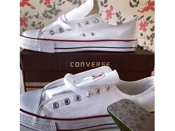Converse - ALL STAR CANVAS OX - Vit Stl: 42