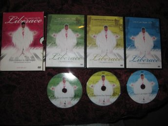 LIBERACE THE LEGEND LIVES ON.. 3 DVD BOX SET FROM LONDON TO LAS VEGAS