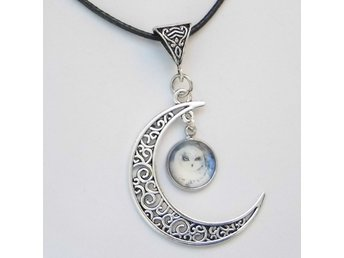 Uggla Måne Halsband / Owl Moon Necklace