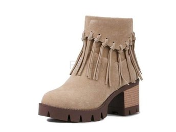 Dam Boots Fashion Tassel Shoes Botas Footwear Ivory 36