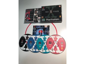X Files Xfiles Black Label 4 disc Rare Playstation 1 PS1 PSx PSOne Komplett