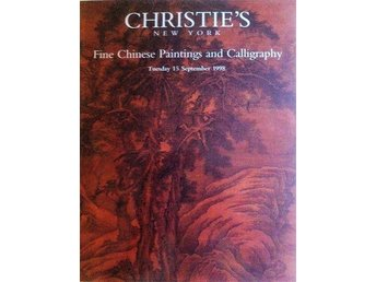 Katalog Christies New York Fine Chinese Paintings and Calligraphy 1998