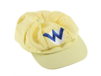 New super mario bros wario cosplay keps cap hat