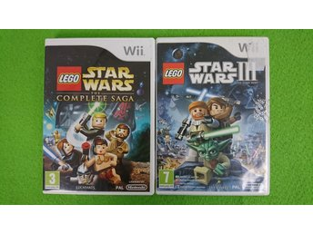 Lego Star Wars 3 & Lego Star Wars the Complete Saga KOMPLETT Nintendo Wii