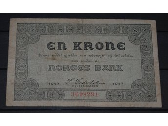 Norge - 1 krone 1917 -