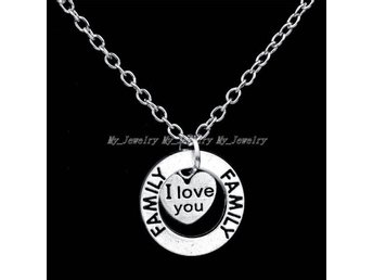 "Nytt halsband ""I love you"" ""Familj"""