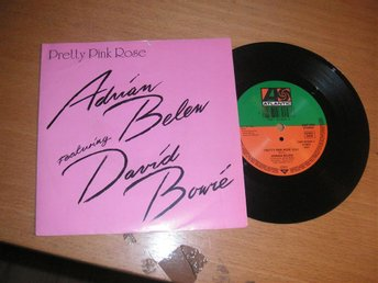 ADRIAN BELEW featuring DAVID BOWIE Pretty pink rose Tysk 45/ps 1990