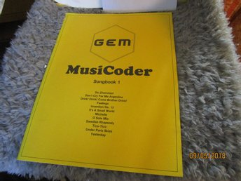 GEM - MUSICODER SONGBOOK 1 - NOTER