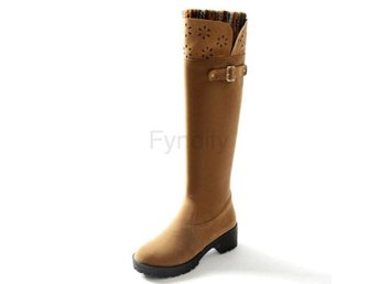 Dam Boots Thick Platform Shoes Warm Winter Botas khaki 36