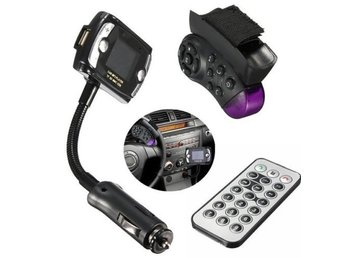 Car Kit Wireless Bluetooth FM Transmitter MP3 Player USB SD LCD Remote Handsfree