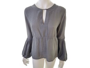 InWear size 38 Long sleeve gray blouse