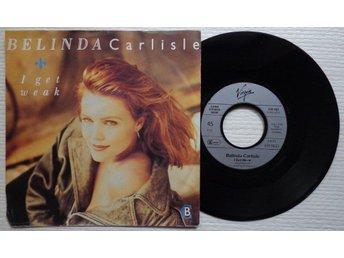 """BELINDA CARLISLE 'I Get Weak' 1988 German 7"""" - Bröndby - BELINDA CARLISLE 'I Get Weak' 1988 German 7"""" - Bröndby"""