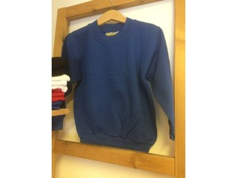Sweatshirt/Collage - Royal blue, blå,  storlek 90/100