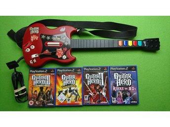 Guitar Hero Gitarr med 4 Guitar Hero Spel PS2 Playstation 2 - Västerhaninge - Guitar Hero Gitarr med 4 Guitar Hero Spel PS2 Playstation 2 - Västerhaninge