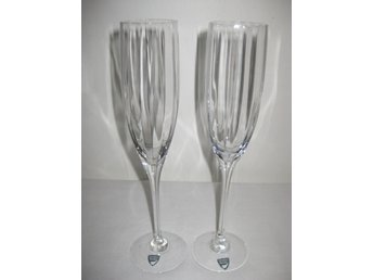 2 st OPTICA Champagneglas Orrefors