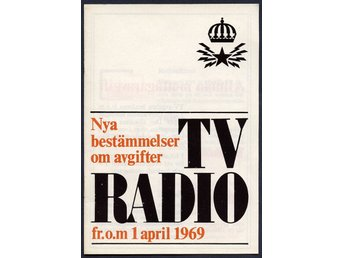TV Radio Nya bestämmelser 1 april 1969