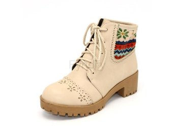 Dam Boots Platfrom Boot Lady Office Footwear Beige 36