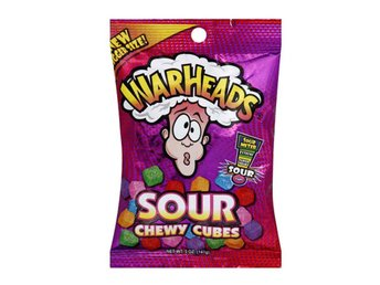 Warheads Sour Chewy Cubes Bag 141g
