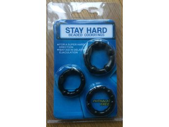 3 x black COCKRINGS! Soft silicone rings - stay hard. Penisringar hjälpmedel sex