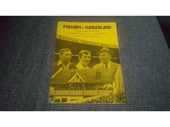 Program Fulham v Sunderland 75-76