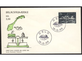 FDC Norge 1969