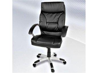 Läderfåtöljer : Chefstol läderfåtölj kontorsstol fabriksny på tradera