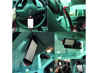 Universal Car Steering Wheel Smart Clip Mount Holder Cradle Stand for Phone GPS