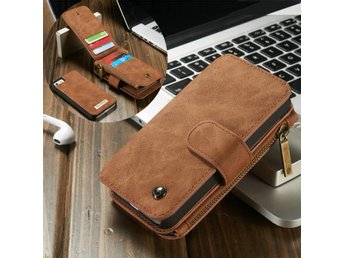 CASEME iPhone SE 5/5s Retro läder plånboksfodral - Brun - Malmö - CASEME iPhone SE 5/5s Retro läder plånboksfodral - Brun - Malmö