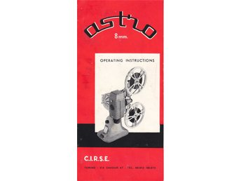 OPERATING INSTRUCTIONS FÖR FILMPROJEKTOR  ASTRO  1957