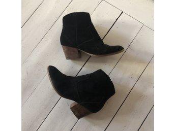 95e0339513a Stövletter Mango skor boots svarta trä klack* t.. (351696220) ᐈ Köp ...