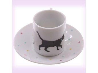 Espresso koppar och fat - katt ***sista ex. med dessa motiv. *** - Hörby - Espresso koppar och fat - katt ***sista ex. med dessa motiv. *** - Hörby