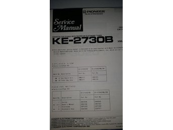 Pioneer KE-3700 B, SDK Orginal Service manual