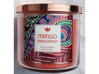 MANGO DRAGONFRUIT Bath & Body Works 3-wick Candle doftljus 3-veks ljus doft USA